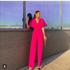 MNG long belted jumpsuits bloggers fav